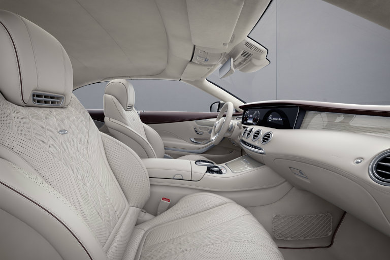 creamy white interior of the 2019 Mercedes-Benz S-Class Exclusive Edition