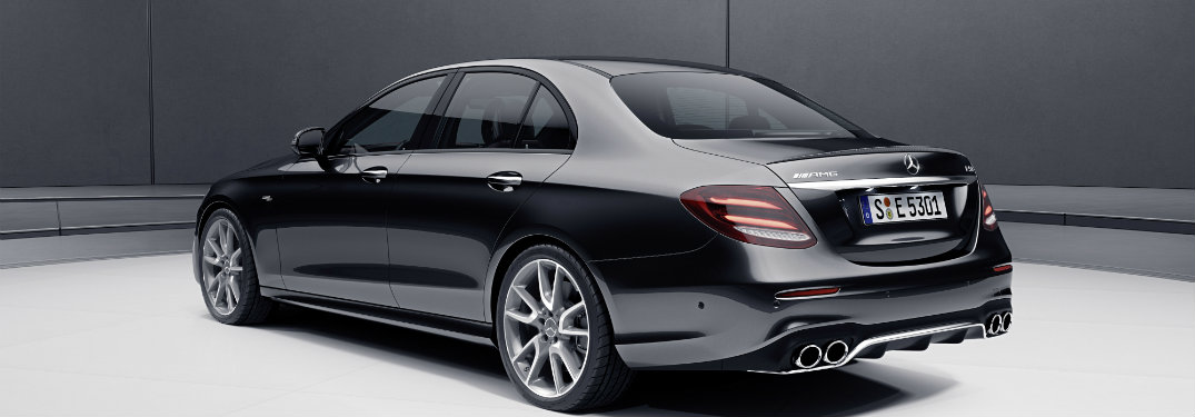 Rear view of the 2019 Mercedes-AMG® E 53 Sedan