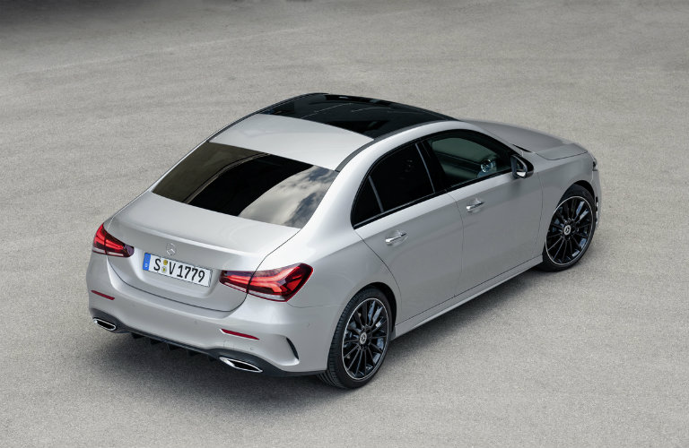 2019 Mercedes-Benz A-Class Sedan seen from above and to the side