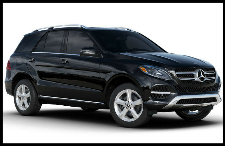 Framed image of a dark-colored 2018 Mercedes-Benz GLE SUV