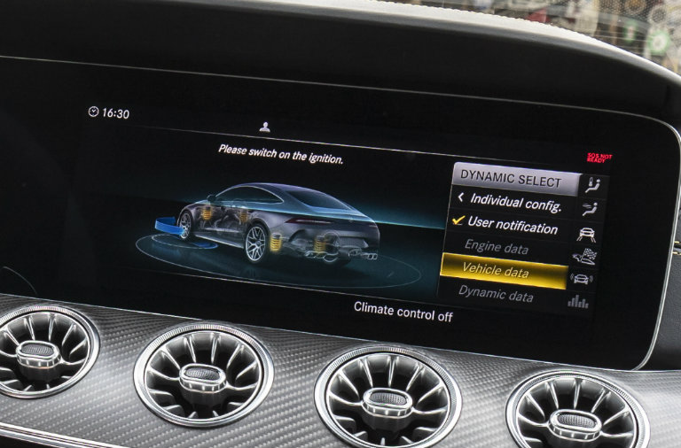 DYNAMIC SELECT system on the 2019 Mercedes-AMG GT 63 Four-Door Coupe
