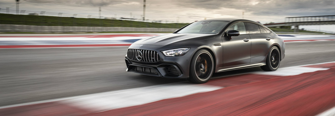2019 Mercedes-AMG® GT 63 Four-Door Coupe on the track