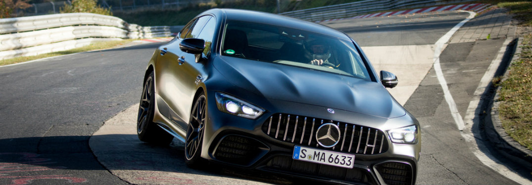 Mercedes-AMG® GT 63 S Four-Door Coupe breaking a lap record