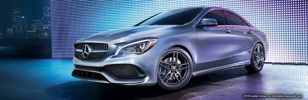 Glamour shot of the 2019 MB CLA