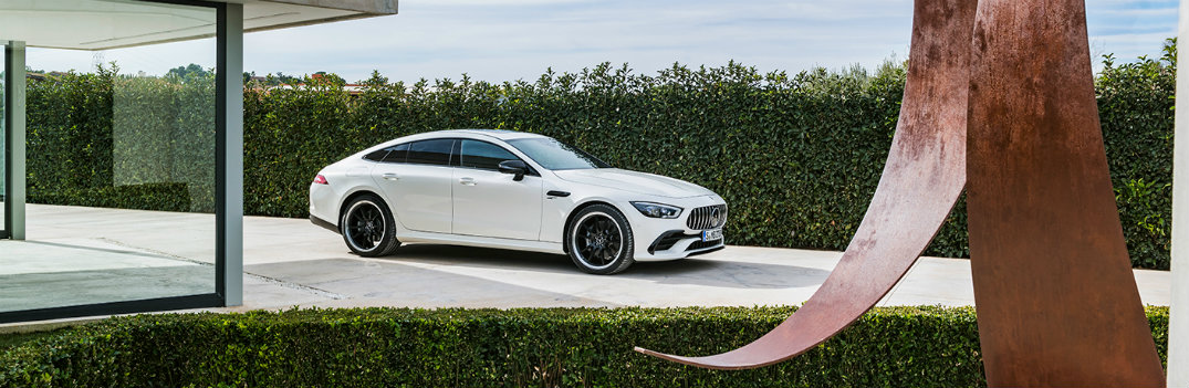 2019 Mercedes-AMG GT parked by art