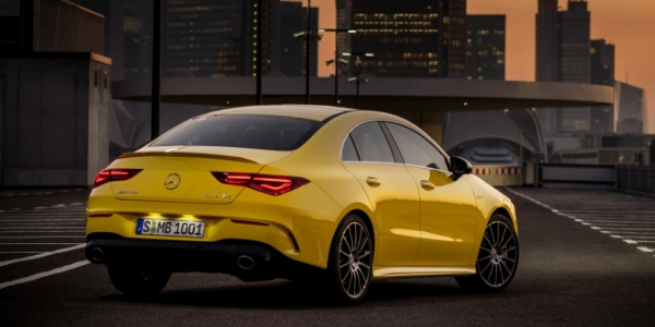 Rear view of 2020 Mercedes-AMG® CLA 35