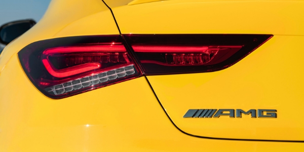Closeup of taillight on 2020 Mercedes-AMG® CLA 35