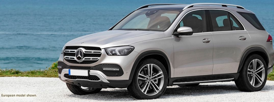 Silver 2020 Mercedes-Benz GLE SUV on beach
