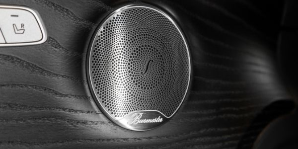Closeup of Burmester® speaker in 2019 Mercedes-Benz E-Class