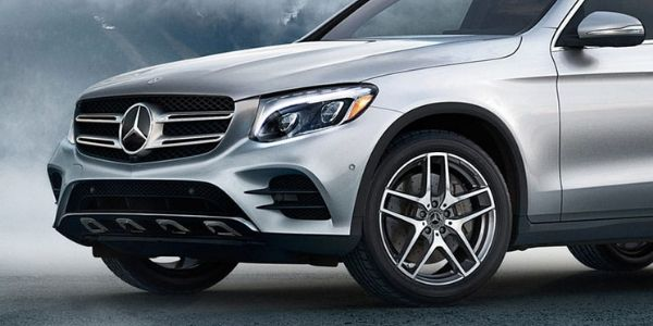 Closeup of 2019 Mercedes-Benz GLC SUV