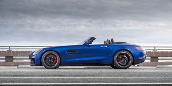 Side view of 2020 Mercedes-AMG® GT C Roadster