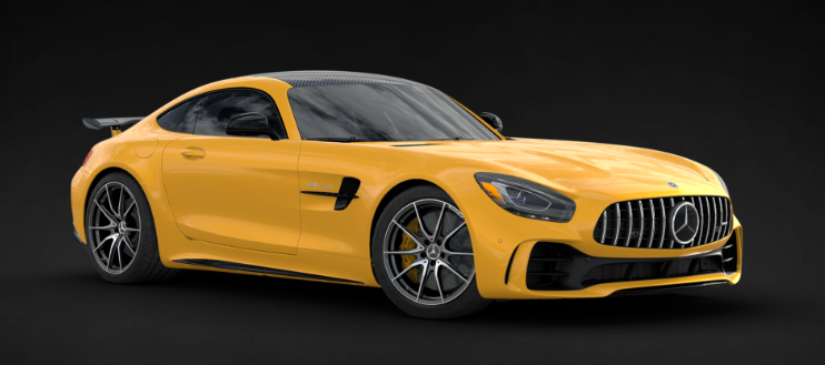 2019 Mercedes-AMG® GT R Coupe in AMG® Solarbeam Yellow Metallic