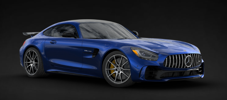 2019 Mercedes-AMG® GT R Coupe in Brilliant Blue Metallic