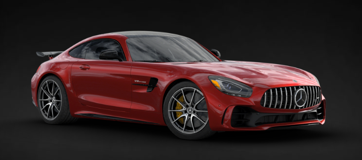 2019 Mercedes-AMG® GT R Coupe in designo® Cardinal Red Metallic