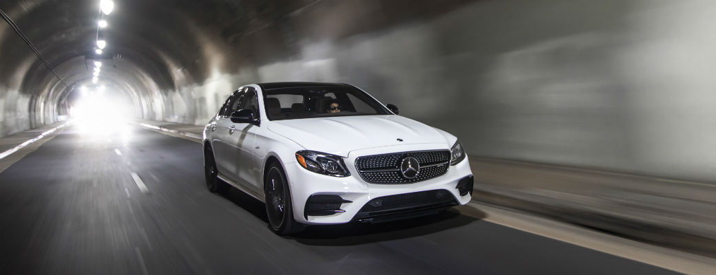 2019 Mercedes-AMG® E 53 Sedan driving through tunnel