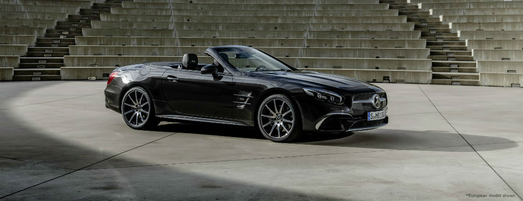 Exterior view of European model 2020 Mercedes-Benz SL Roadster Grand Edition