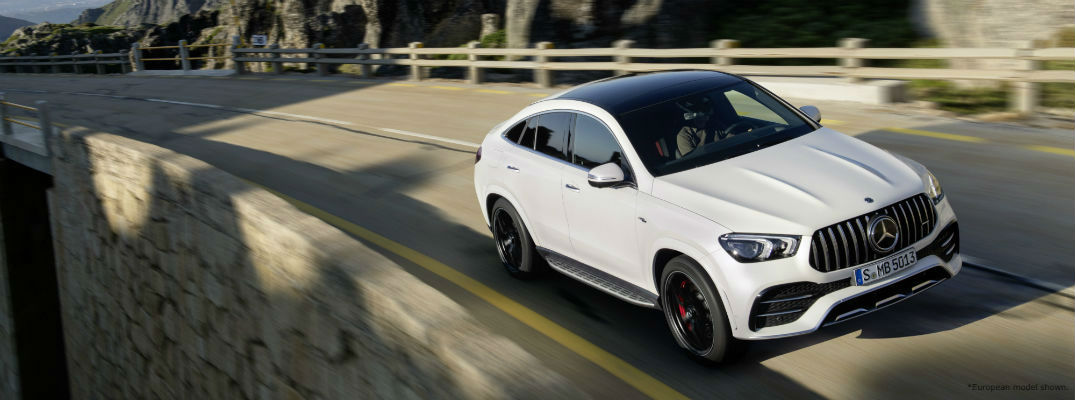 White European model 2021 Mercedes-AMG® GLE 53 Coupe driving