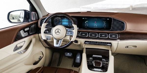 Interior view of 2021 Mercedes-Maybach