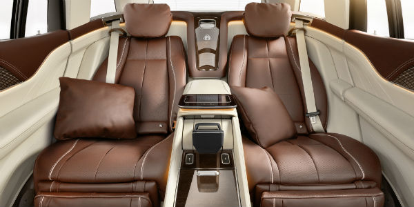 Rear seating in 2021 Mercedes-Maybach