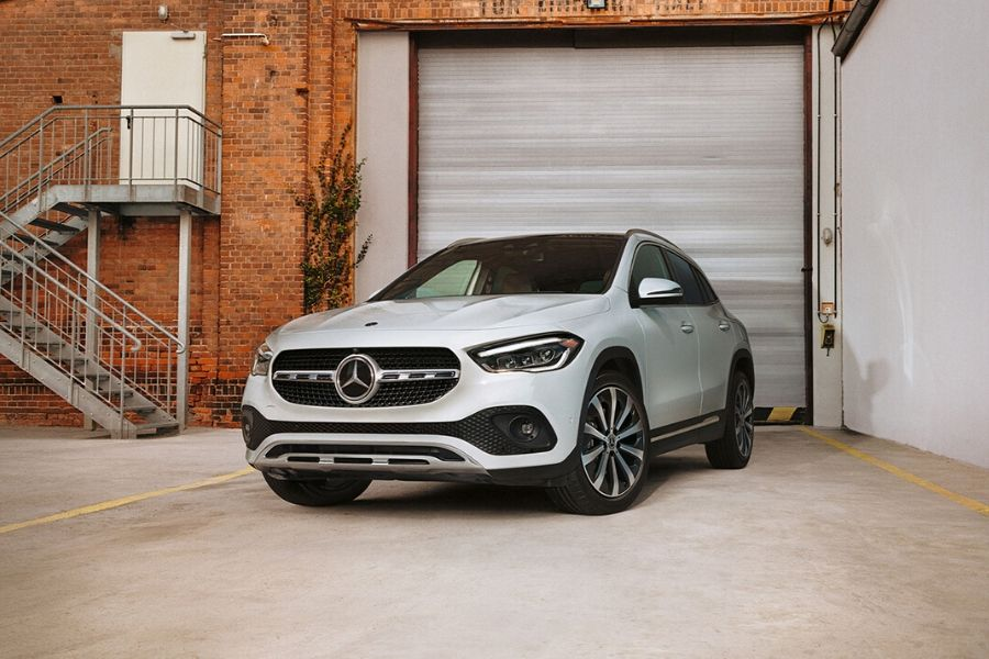 2021 Mercedes-Benz GLE parked in front of garage