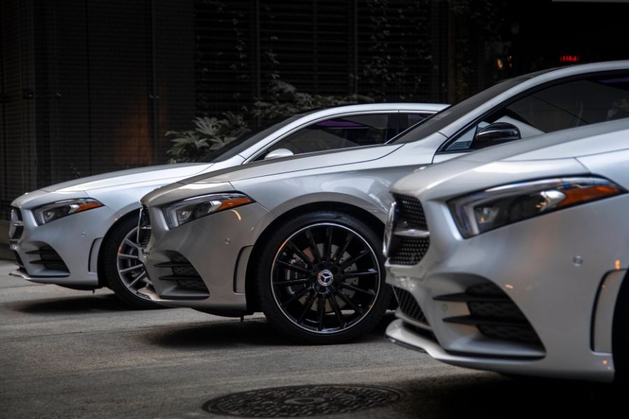 Front dash of 2020 Mercedes-Benz models
