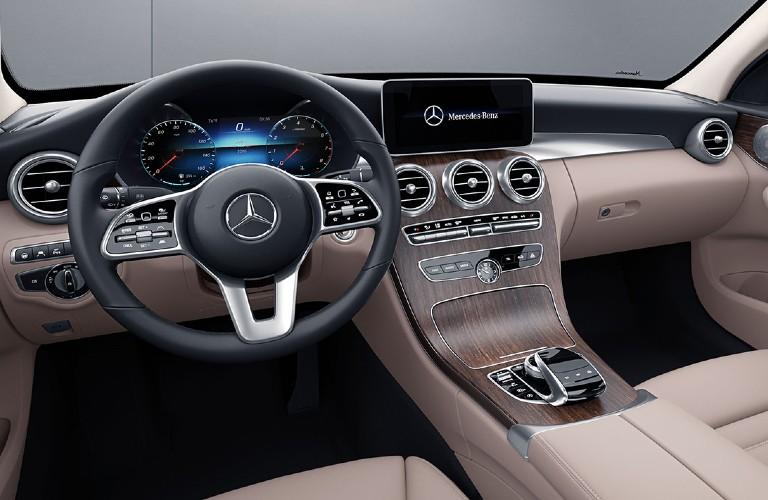 2021 Mercedes-Benz C-Class interior front dash