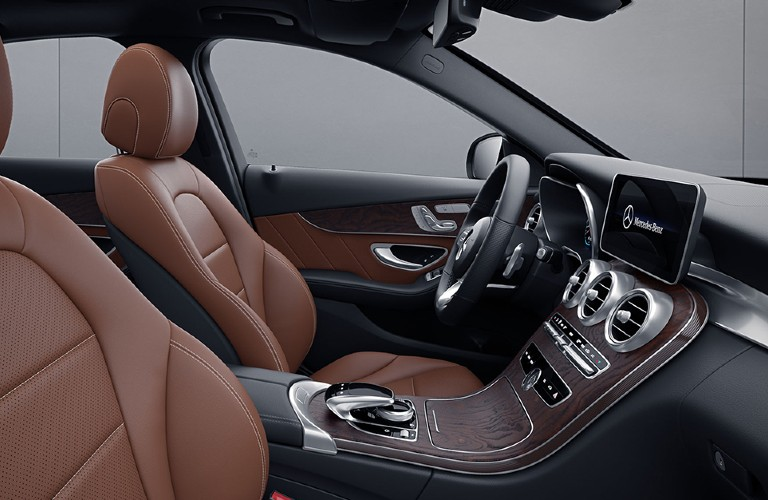Front seats in the 2021 Mercedes-Benz C-Class