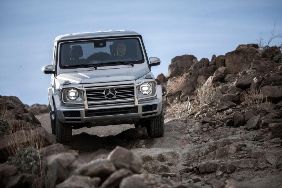 2020 Mercedes-Benz G-Class on rocks