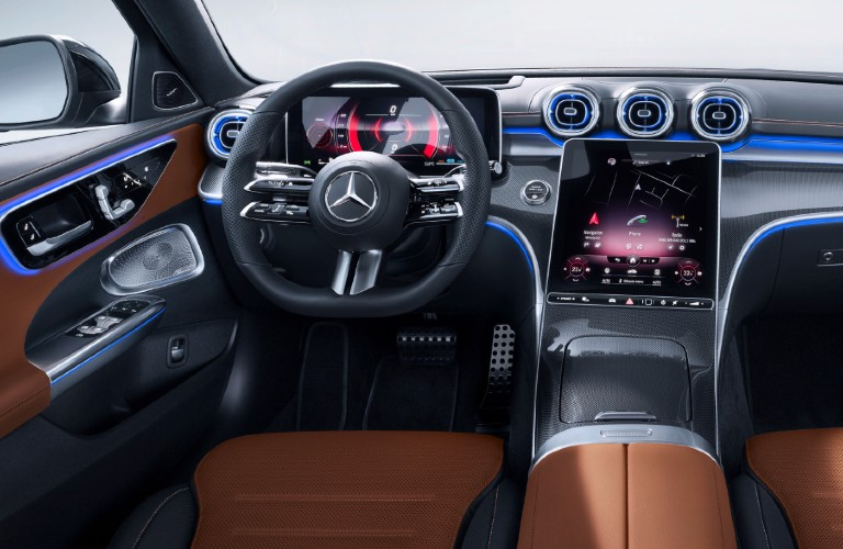 Interior front dash of 2021 Mercedes-Benz C-Class