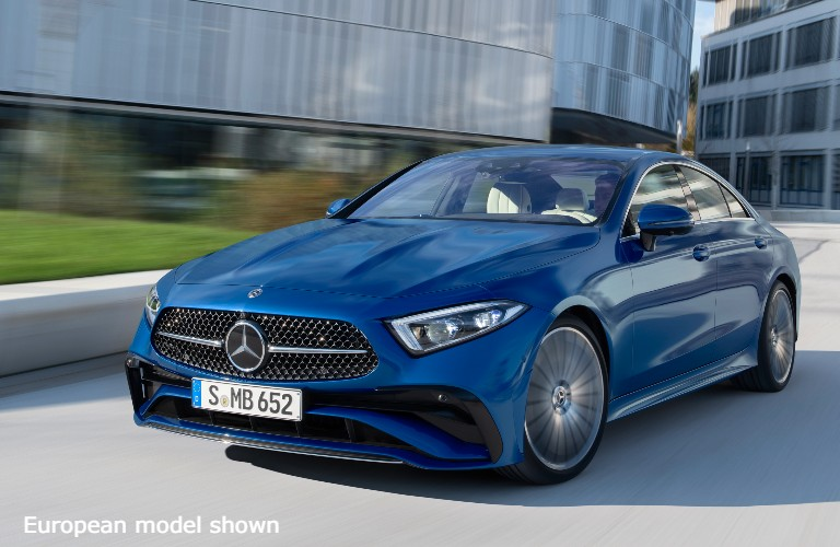 European model of the 2022 Mercedes-Benz CLS from exterior front