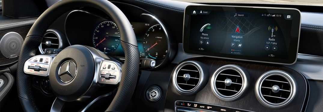 2021 Mercedes-Benz C-Class Steering Wheel and Dashboard