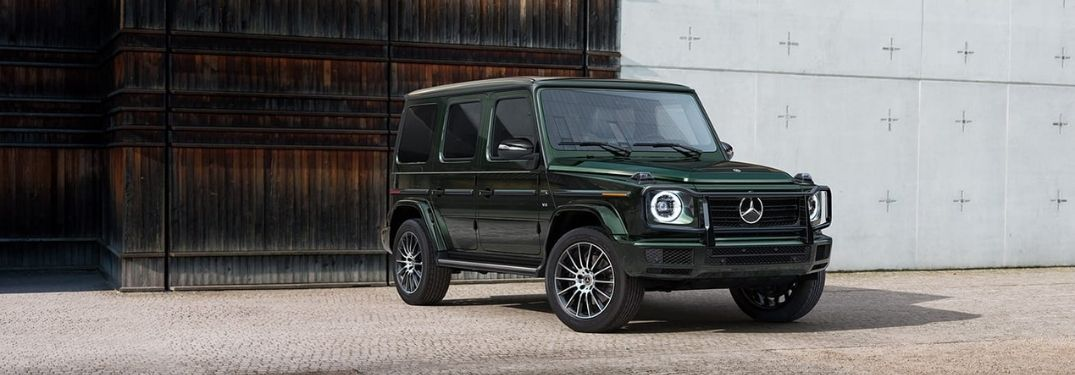 2021 Mercedes-Benz G-Class parked outside a building