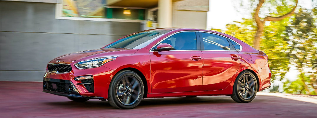 2019 Kia Forte Side View of Red Exterior