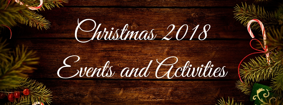 Christmas 2018 Events and Activities Banner with Festive Border
