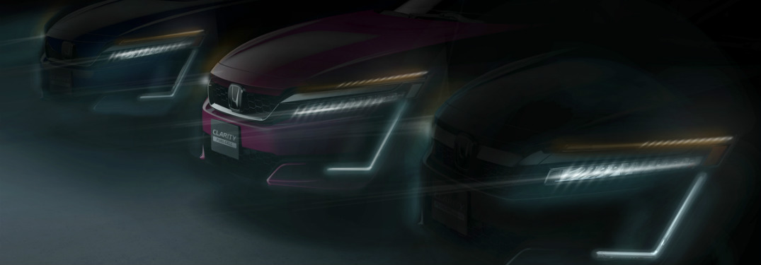 Artistic image of the front of the 2018 Honda Clarity models