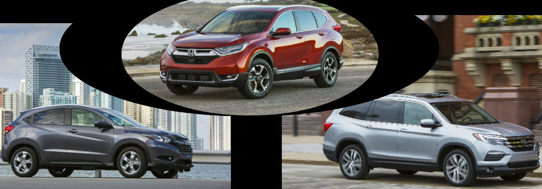 2017 Honda HR-V vs 2017 Honda CR-V vs 2017 Honda Pilot