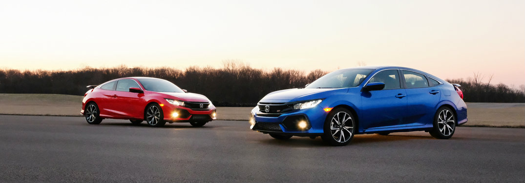 Sedan Vs Coupe >> Compare The 2017 Honda Civic Si Coupe Vs Sedan
