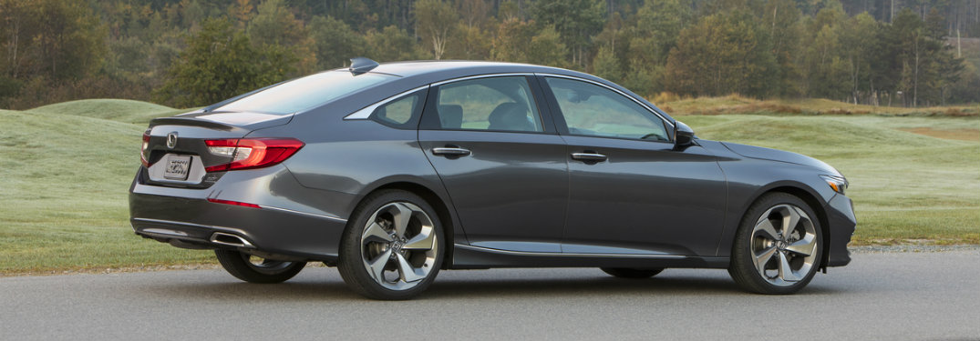 2018 Honda Accord Touring equipped with the 2.0-liter engine seen from the side
