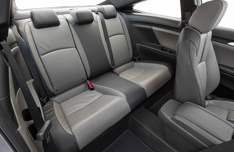 grey rear seats of the 2018 Honda Civic Coupe
