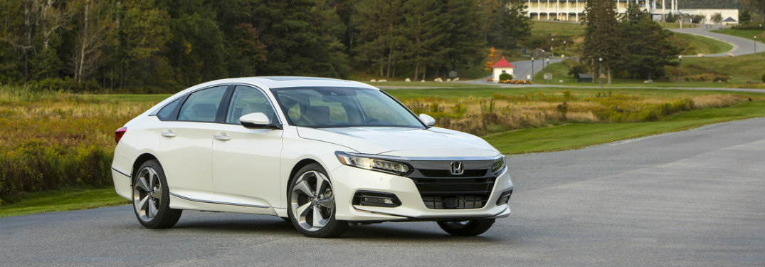 white 2018 Honda Accord Touring seen from the side