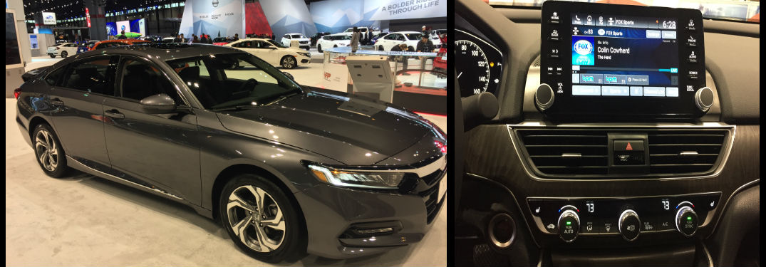 interior and exterior shots of the 2018 Honda Clarity Plug-in Hybrid at the 2018 Chicago Auto Show
