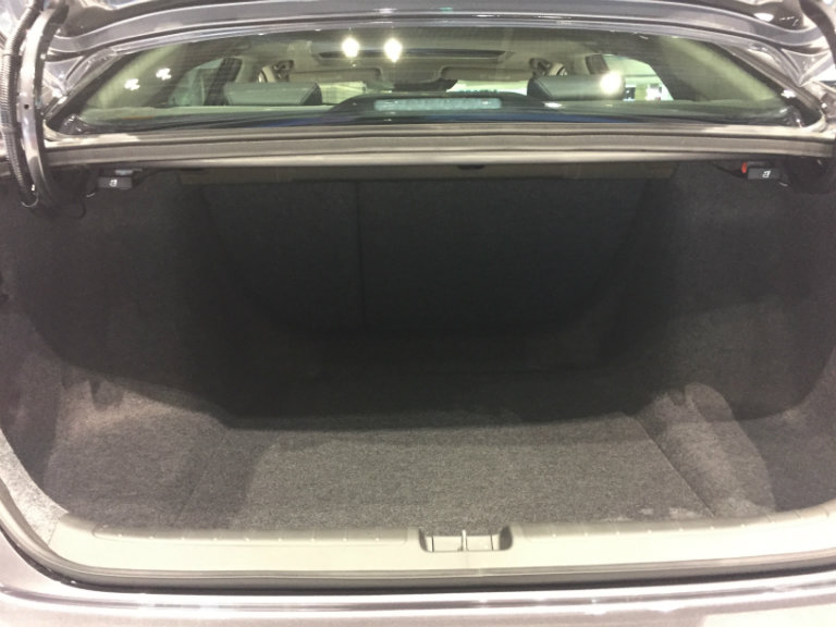 rear cargo area of the 2018 Honda Clarity Plug-in Hybrid at the Chicago Auto Show 2018