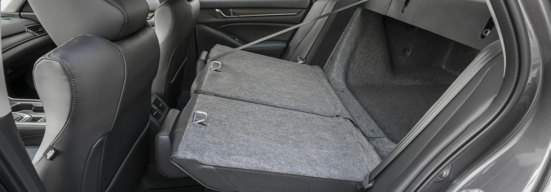 2018 Honda Accord with the rear seats folded down