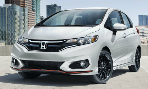 2019 Honda Fit in Platinum Pearl White