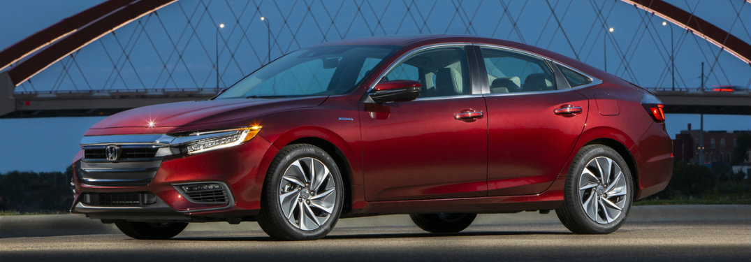 side view of a red 2019 Honda Insight