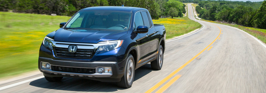 2019 Honda Ridgeline on the road