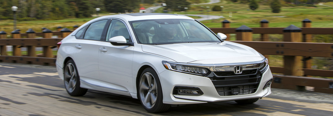 white 2018 Honda Accord Touring on the road