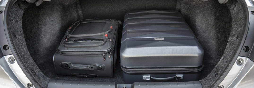 two pieces of luggage in the 2019 Honda Insight
