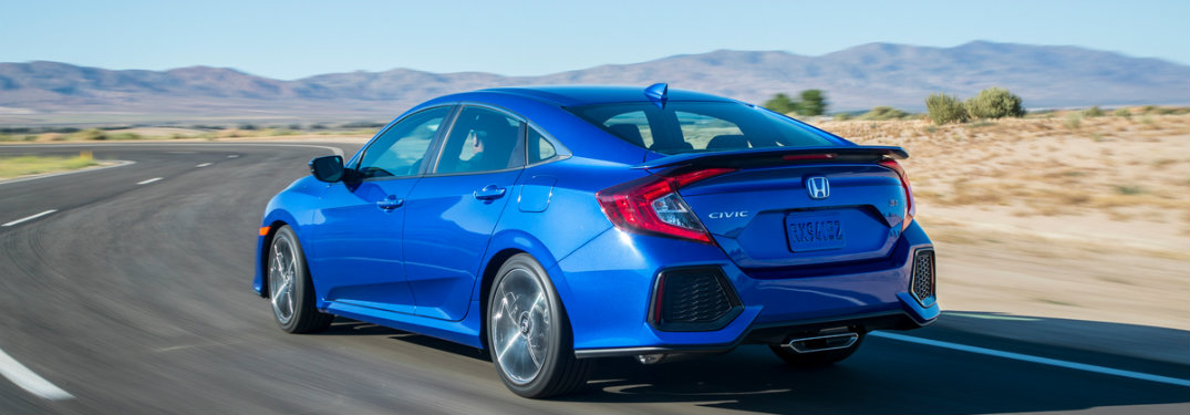 2019 Honda Civic Si Sedan from the rear