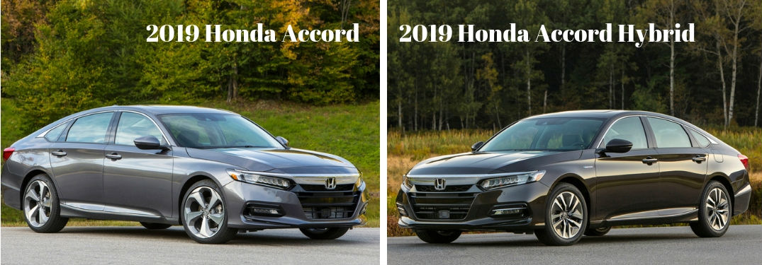 2019 Honda Accord vs 2019 Honda Accord Hybrid comparison image